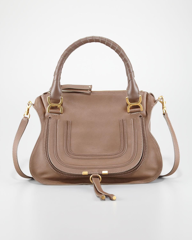 chlo marcie medium shoulder bag brown seed in brown lyst. Black Bedroom Furniture Sets. Home Design Ideas