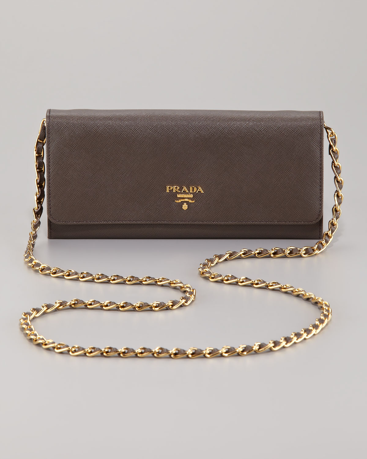 0e2d56c0f25e ... france lyst prada saffiano wallet on a chain nero in black 3ed92 d7fa9