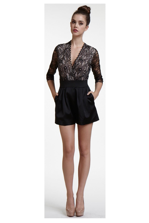 Erin Fetherston Lace Bodice Jumper In Black Lyst
