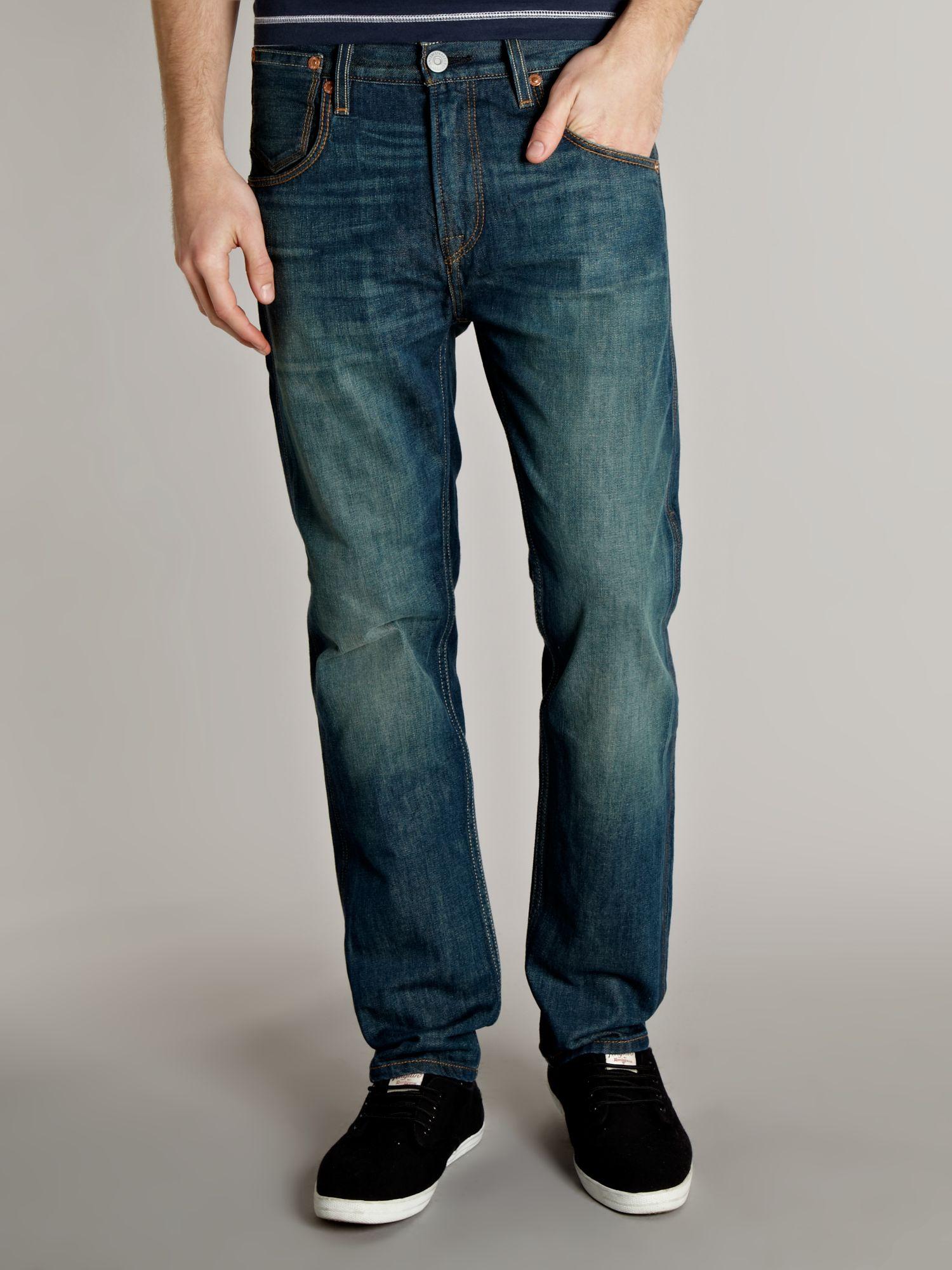 "Levi's Cotton 514 Slim Straight Leg Jean - 30-36"" Inseam in Denim Mid Wash (Blue) for Men"