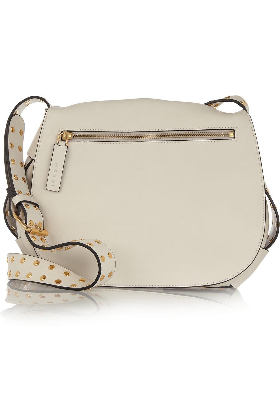 White Studded Shoulder Bag 20