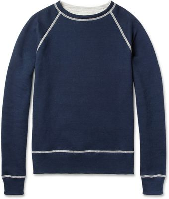 Billy Reid Reversible Cotton Sweatshirt - Lyst