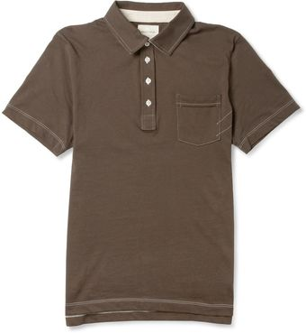 Billy Reid Pensacola Cottonjersey Polo Shirt - Lyst
