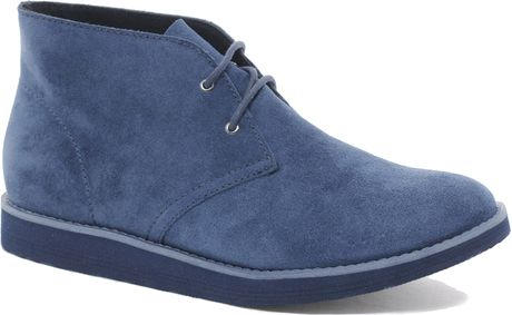 cheap monday alladin suede desert boots in blue for lyst