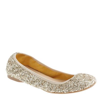 gold sparkle ballet flats online dba66