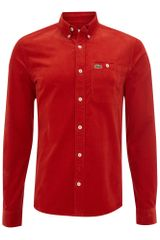 Lacoste Slim Fitted Pocket Detail Shirt in Red for Men - Lyst
