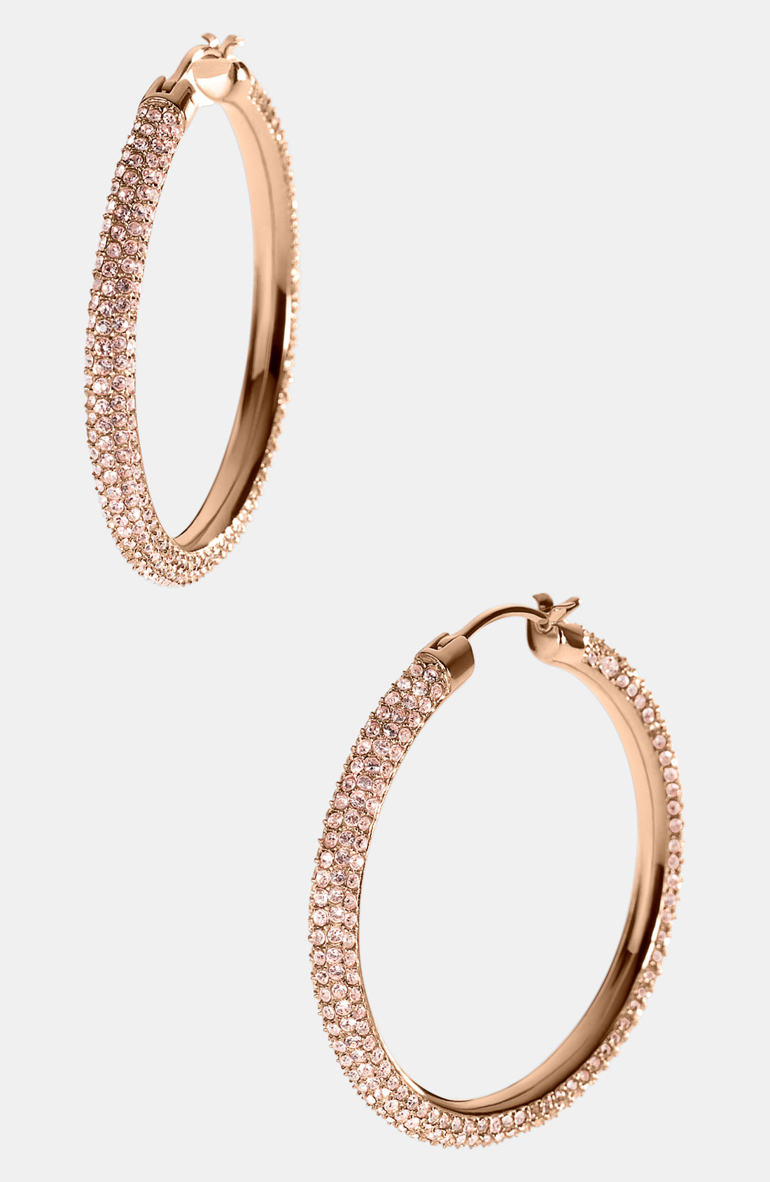 michael kors gold hoop earrings michael michael kors camille pav 233 hoop earrings in gold 2642