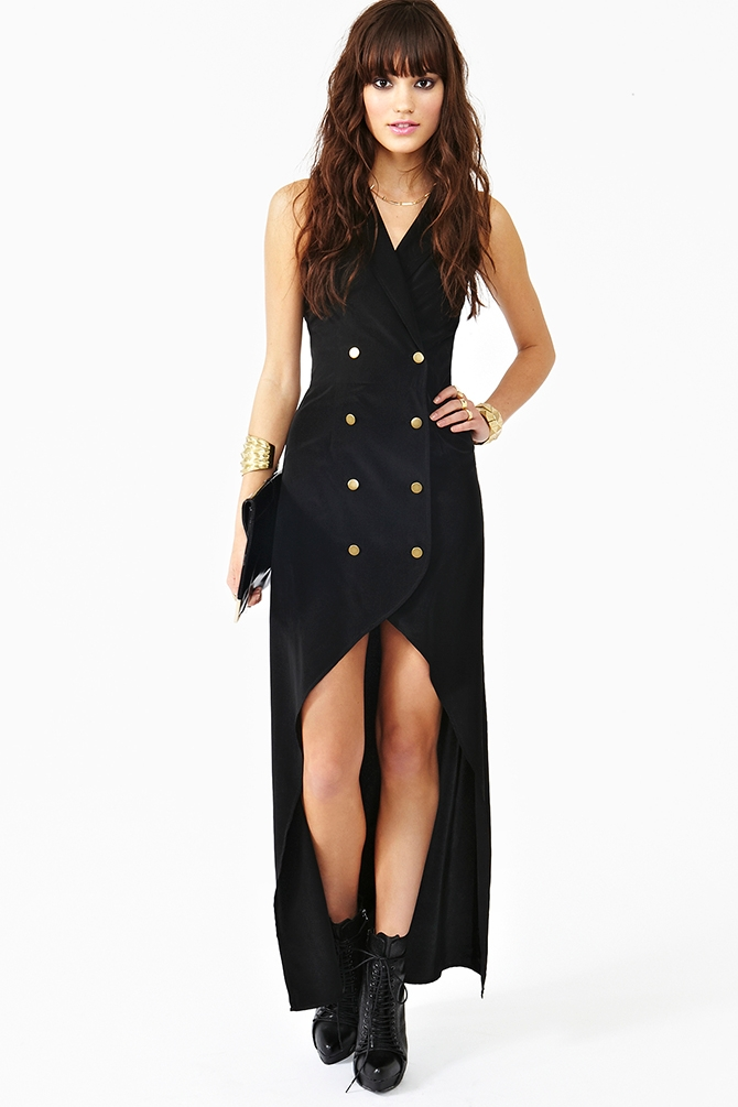Nasty Gal La Femme Tux Dress In Black - Lyst-2609