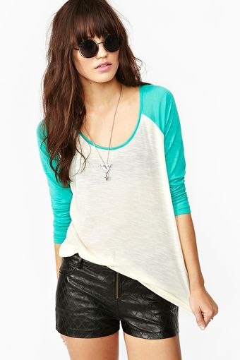 Nasty Gal Home Run Raglan Tee - Lyst