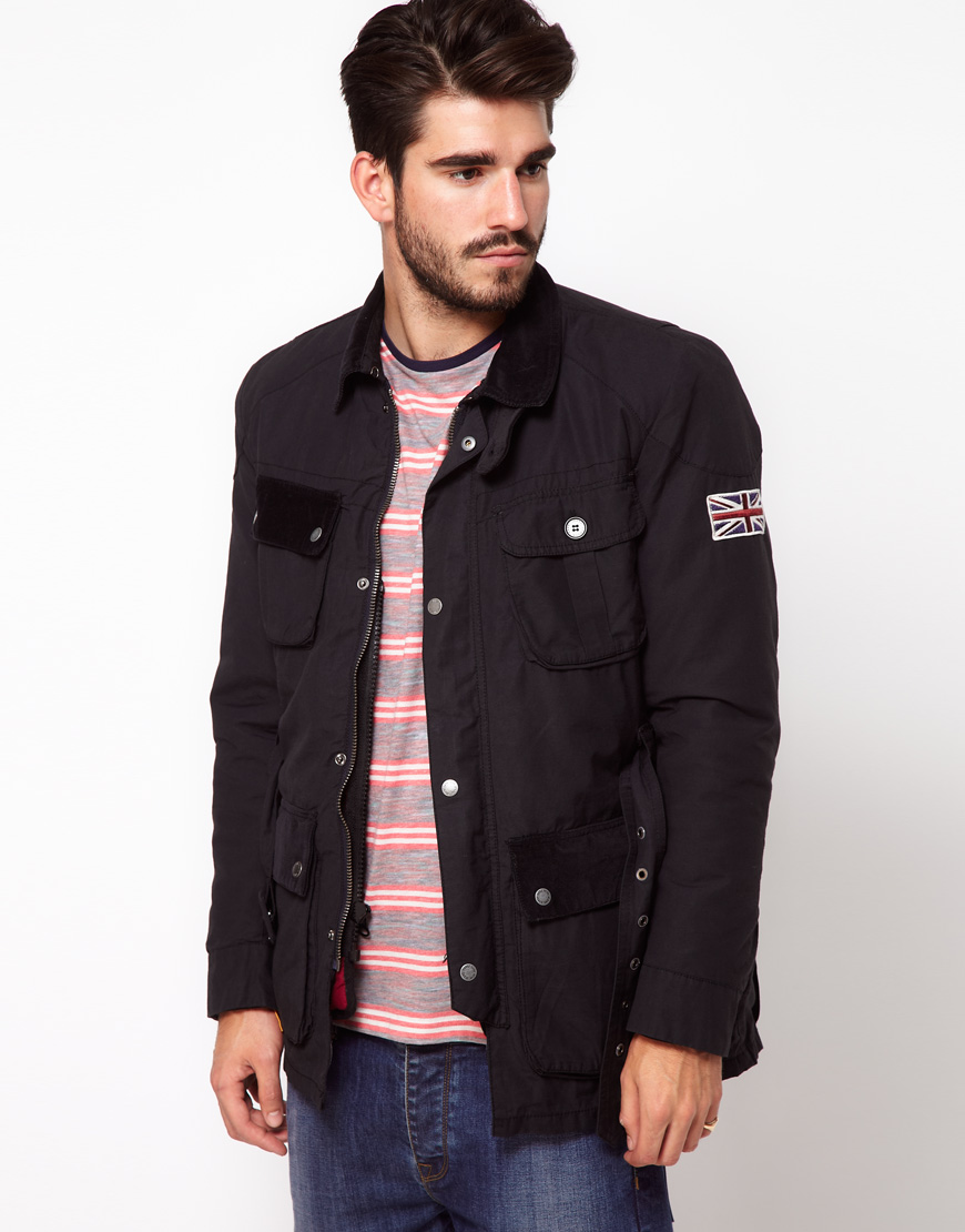 pepe jeans pepe sutton jacket in black for men lyst. Black Bedroom Furniture Sets. Home Design Ideas