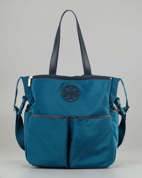 Tory Burch Stacked Logo Billy Baby Bag In Blue Winter