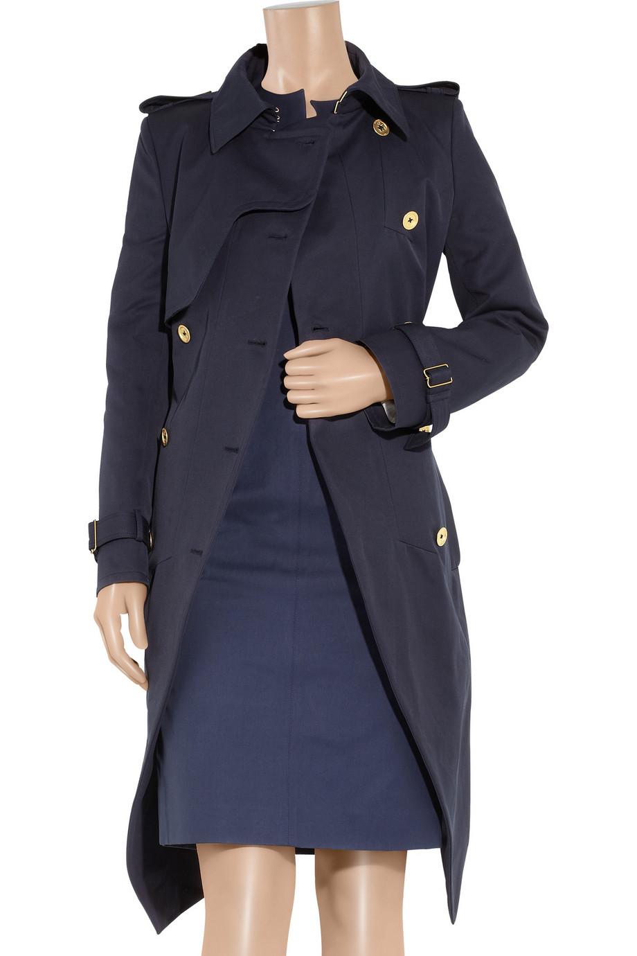 20d0705623 Saint Laurent Black Cotton-gabardine Trench Coat