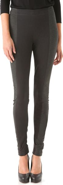 Donna Karan New York Two Tone Pants in Black