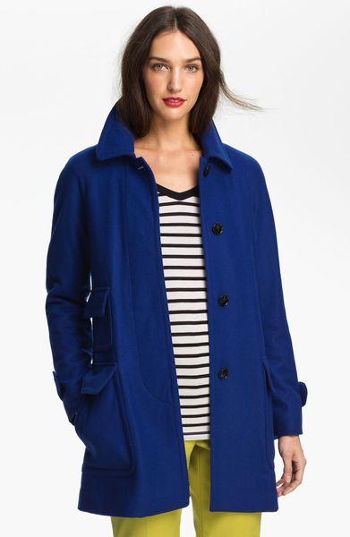 Ellen Tracy Stadium Coat with Liner Nordstrom Exclusive in Blue ...