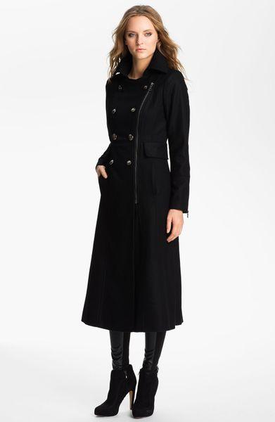 Guess Zip Front Wool Blend Coat Online Exclusive In Black