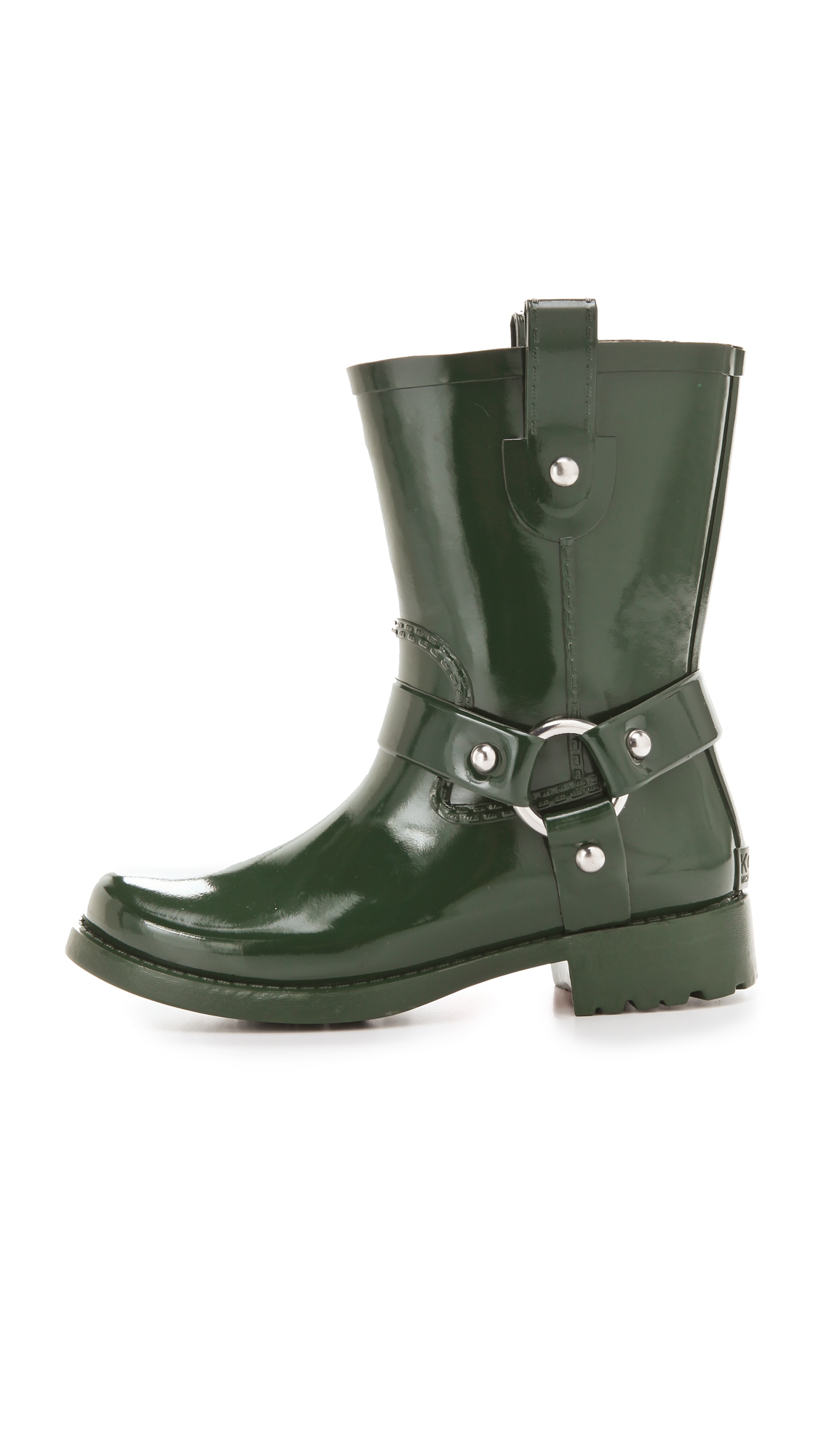Kors By Michael Kors Stormette Rubber Boots In Green | Lyst