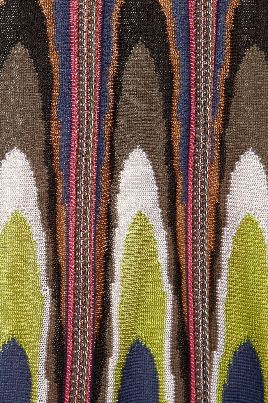 M Missoni Trapeze Crochet Knit Cotton Blend Mini Dress Lyst