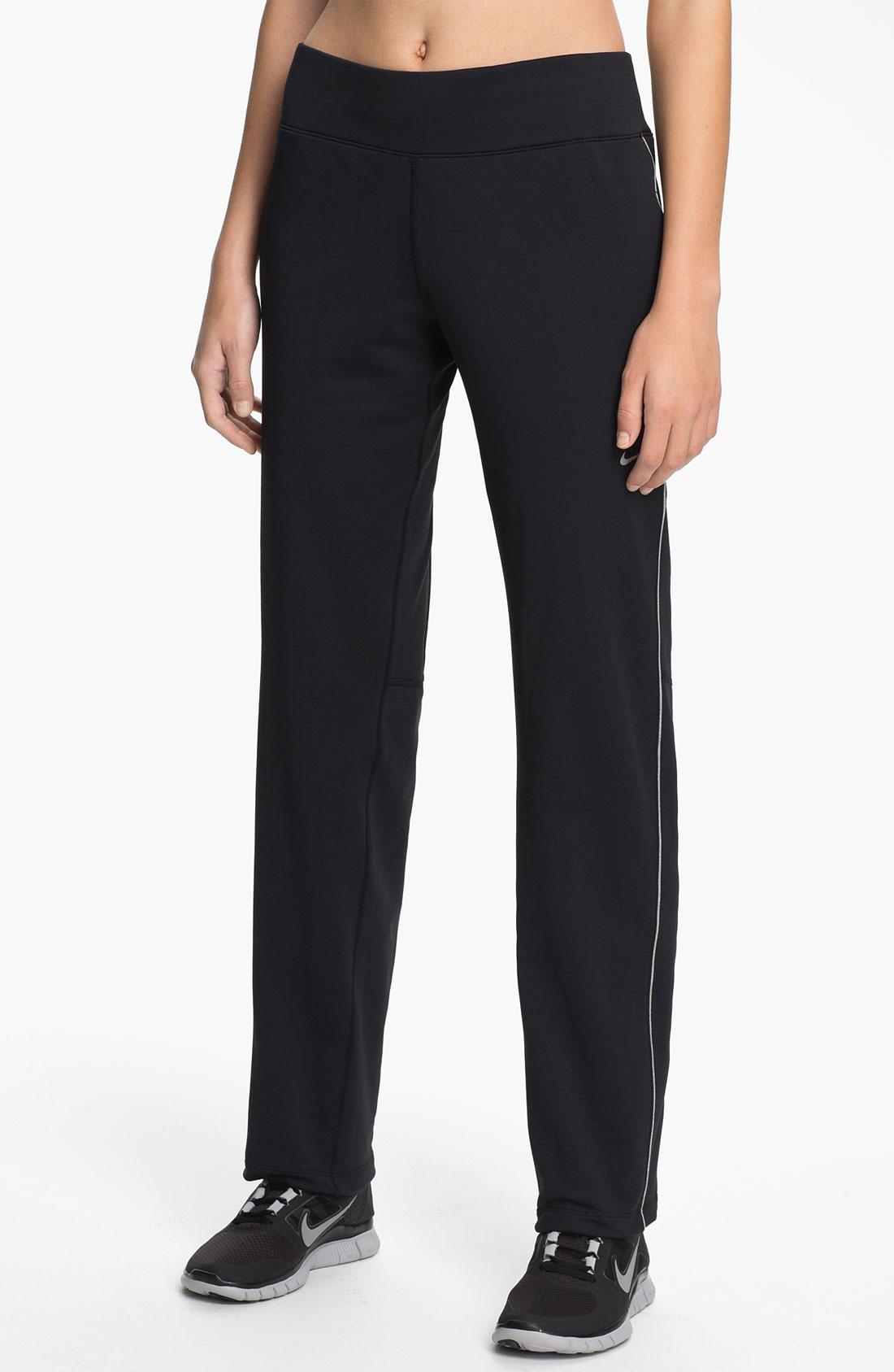 Nike Thermal Running Pants in Black | Lyst