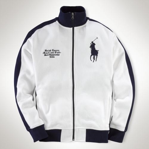 Crossedflags White Jacket Ralph For Men Polo Track Lauren n08OZPNwXk