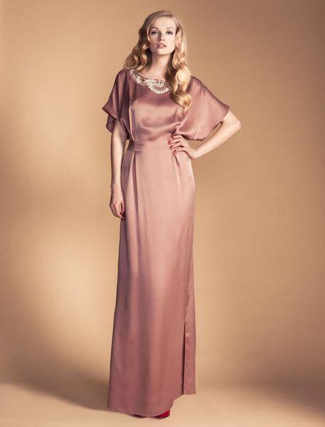 temperley london long deco bijoux kaftan in pink rose lyst. Black Bedroom Furniture Sets. Home Design Ideas