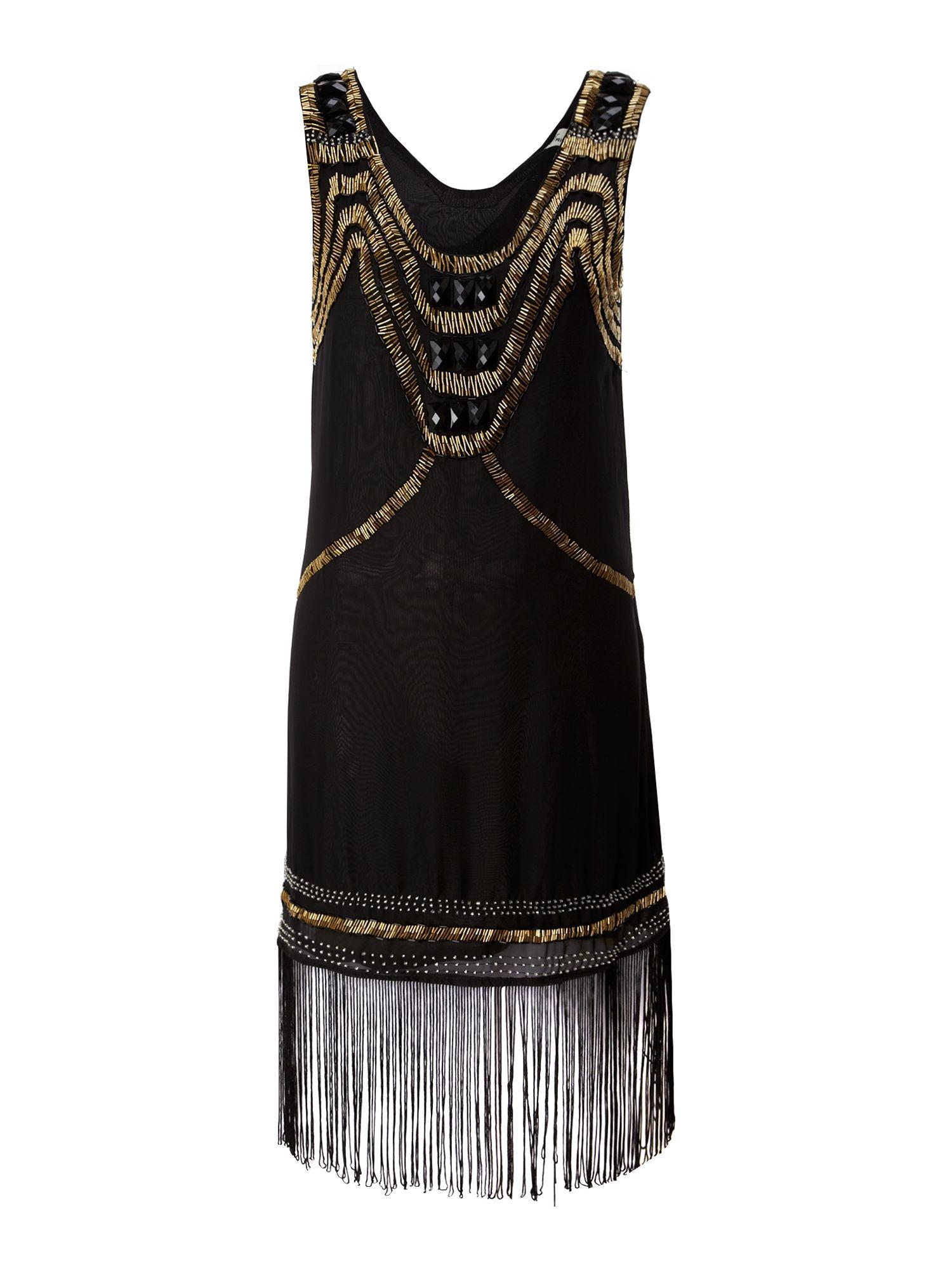 True Decadence Art Deco Flapper Dress In Black Lyst