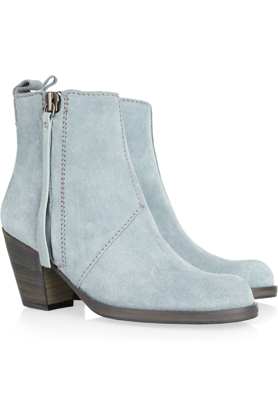 96d4ace927c56 Acne Studios Pistol Suede Ankle Boots in Blue - Lyst