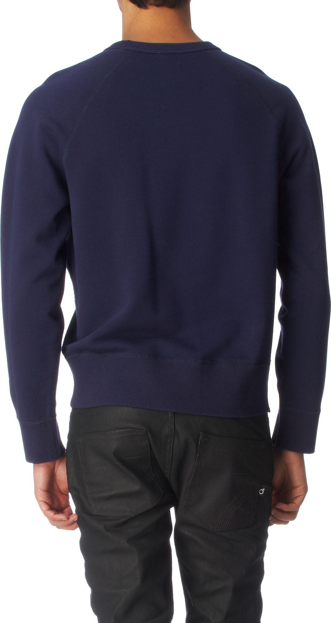 Acne Studios College Peace Sweatshirt in Navy (Blue) for Men