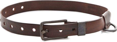 Donna Karan New York Buckle Belt in Brown