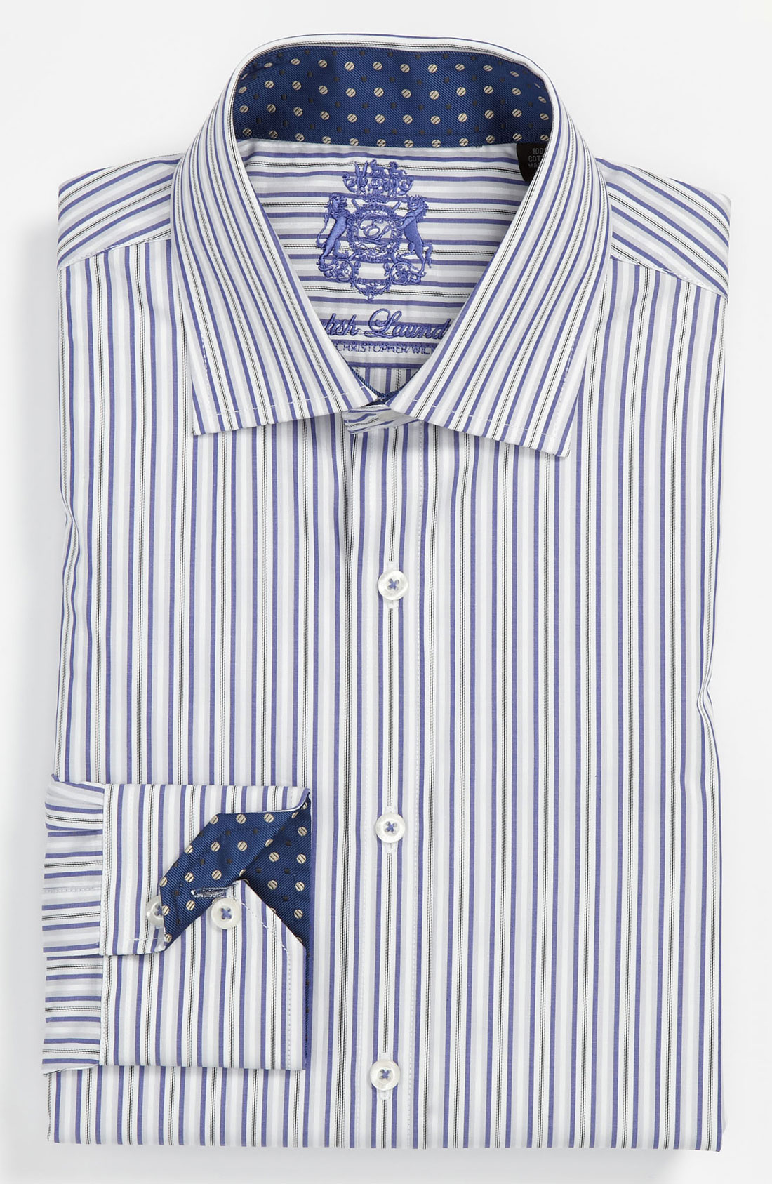 English Laundry Trim Fit Dress Shirt In Blue For Men Blue