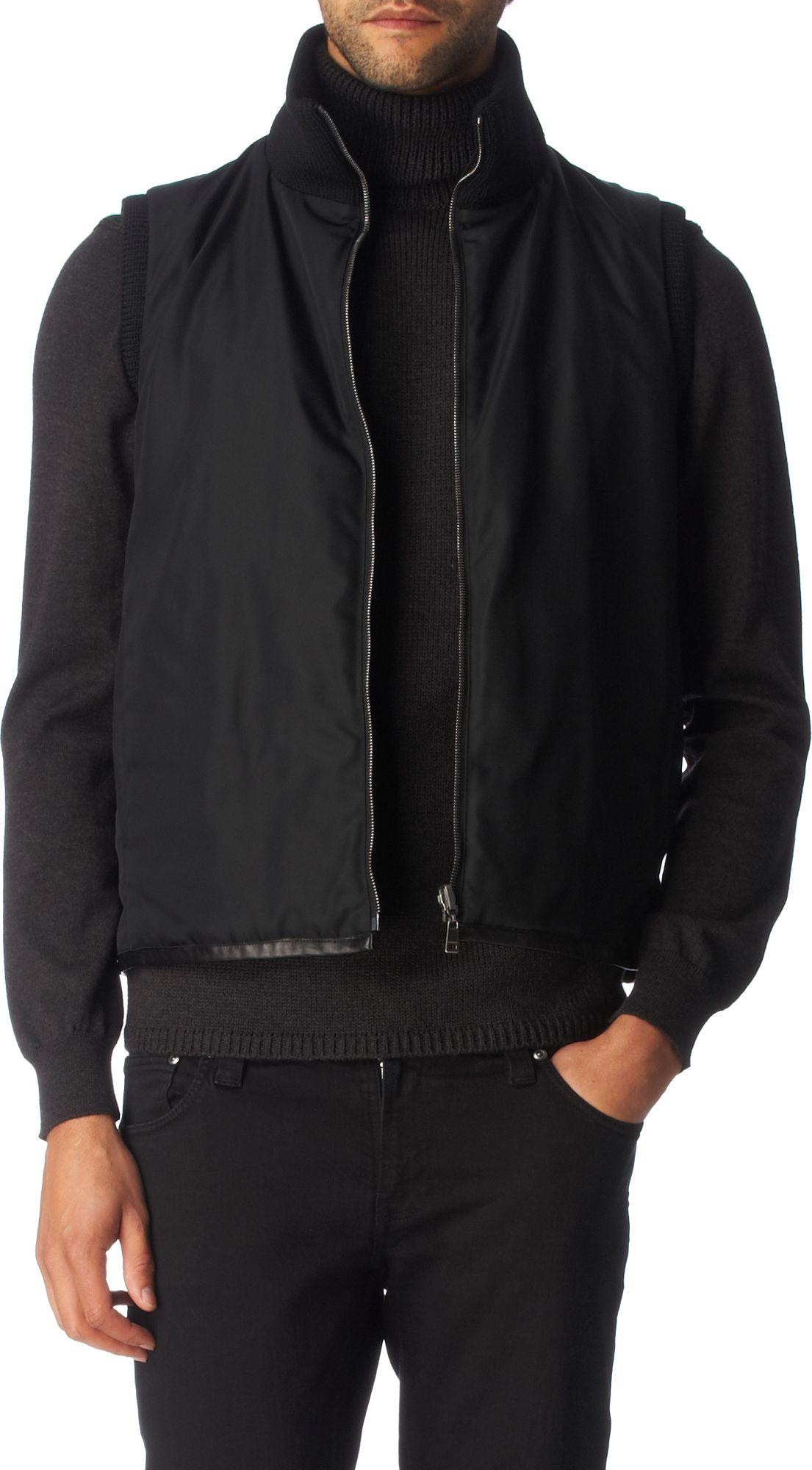 Jil sander Sleeveless Bomber Jacket in Black for Men | Lyst