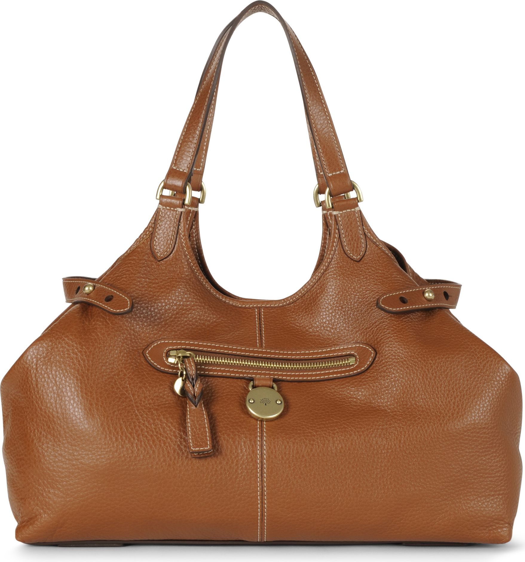 64325c45d2 ... new arrivals mulberry somerset pebbled leather tote in brown lyst 830fd  dd162