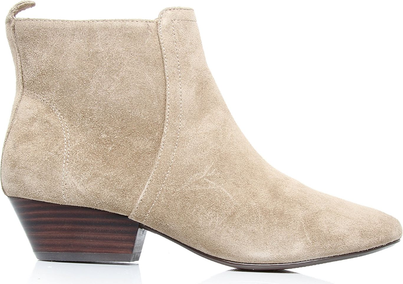 nine west paperlane suede ankle boots in beige lyst