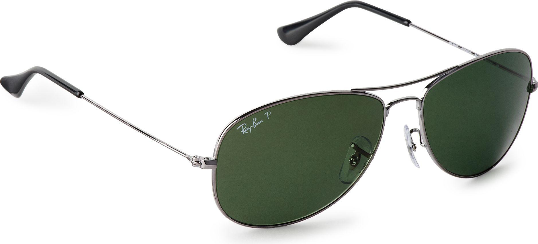 Ray Ban Aviator Sunglasses In Green For Men Gunmetal Lyst