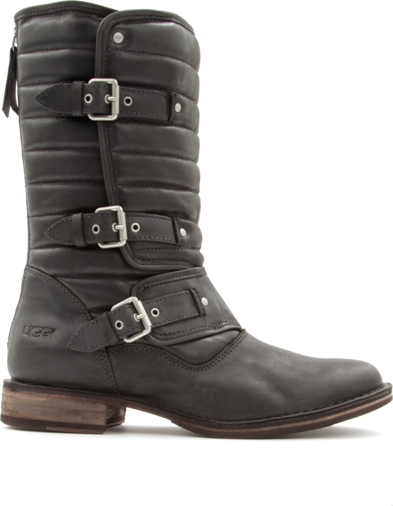 black ugg leather boots