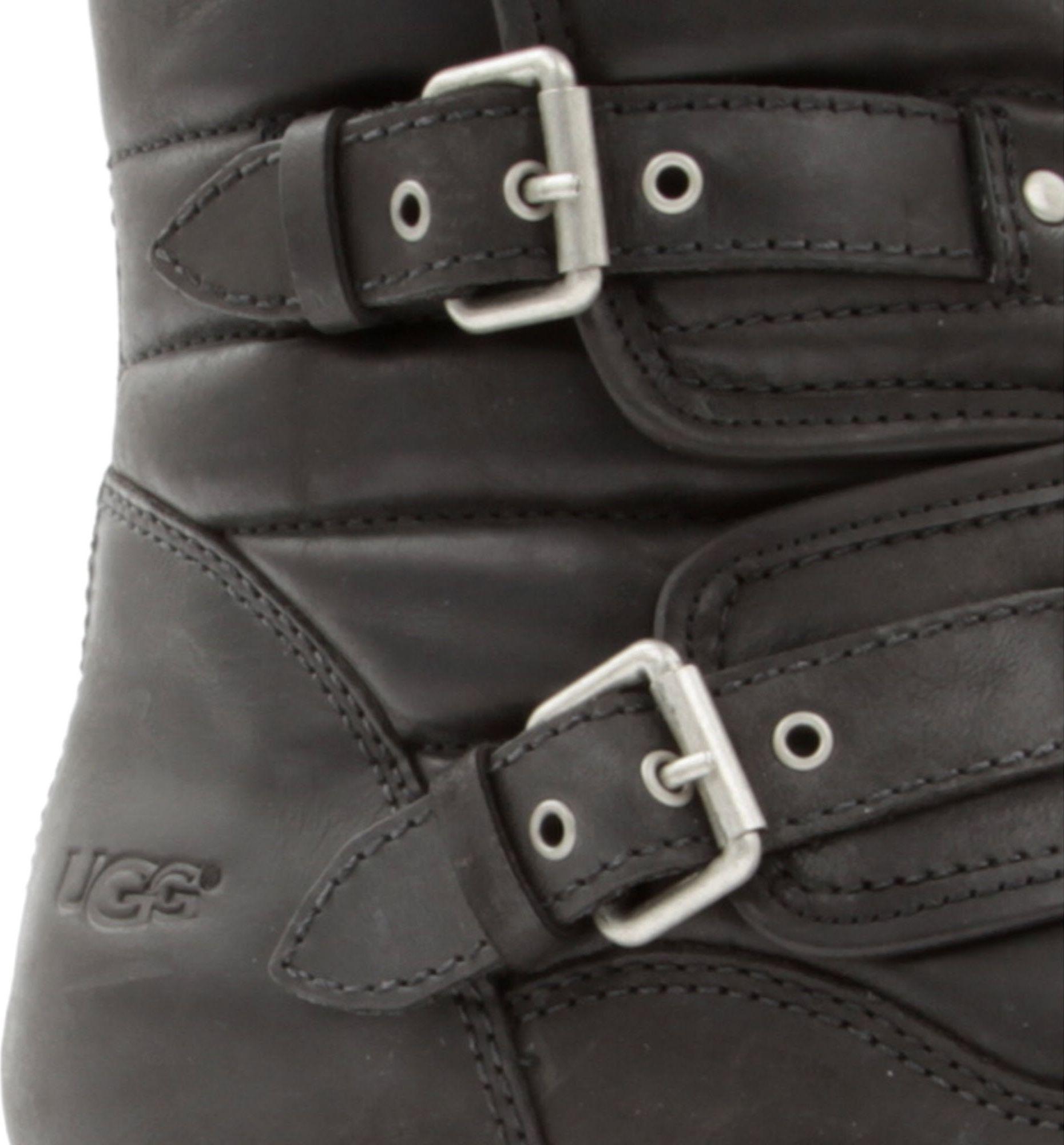 ugg tatum leather biker boots