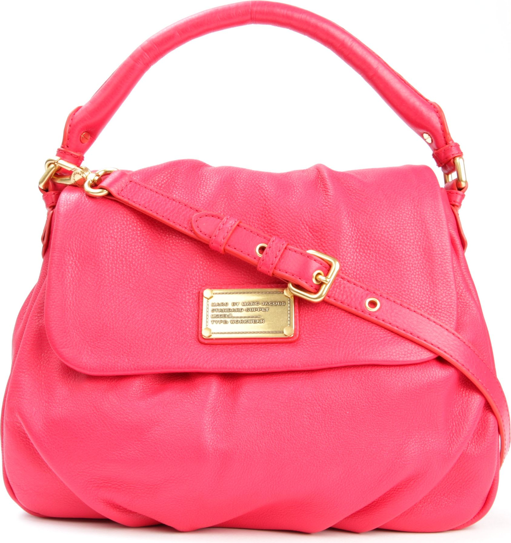 Marc By Marc Jacobs Classic Q Lil Ukita Shoulder Bag in Pink - Lyst 8c2edc939915