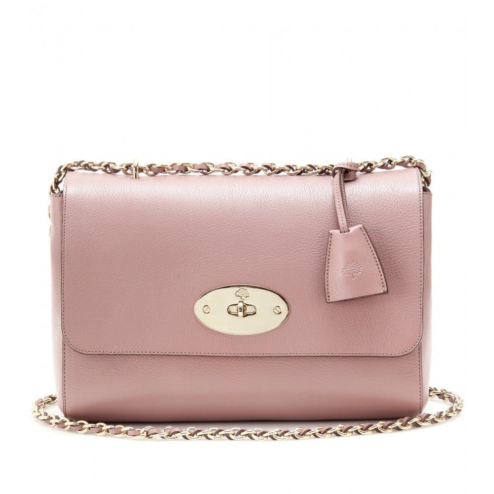 c85421a885 ... shopping lyst mulberry medium lily glossy leather shoulder bag in pink  f66dc 9d96f