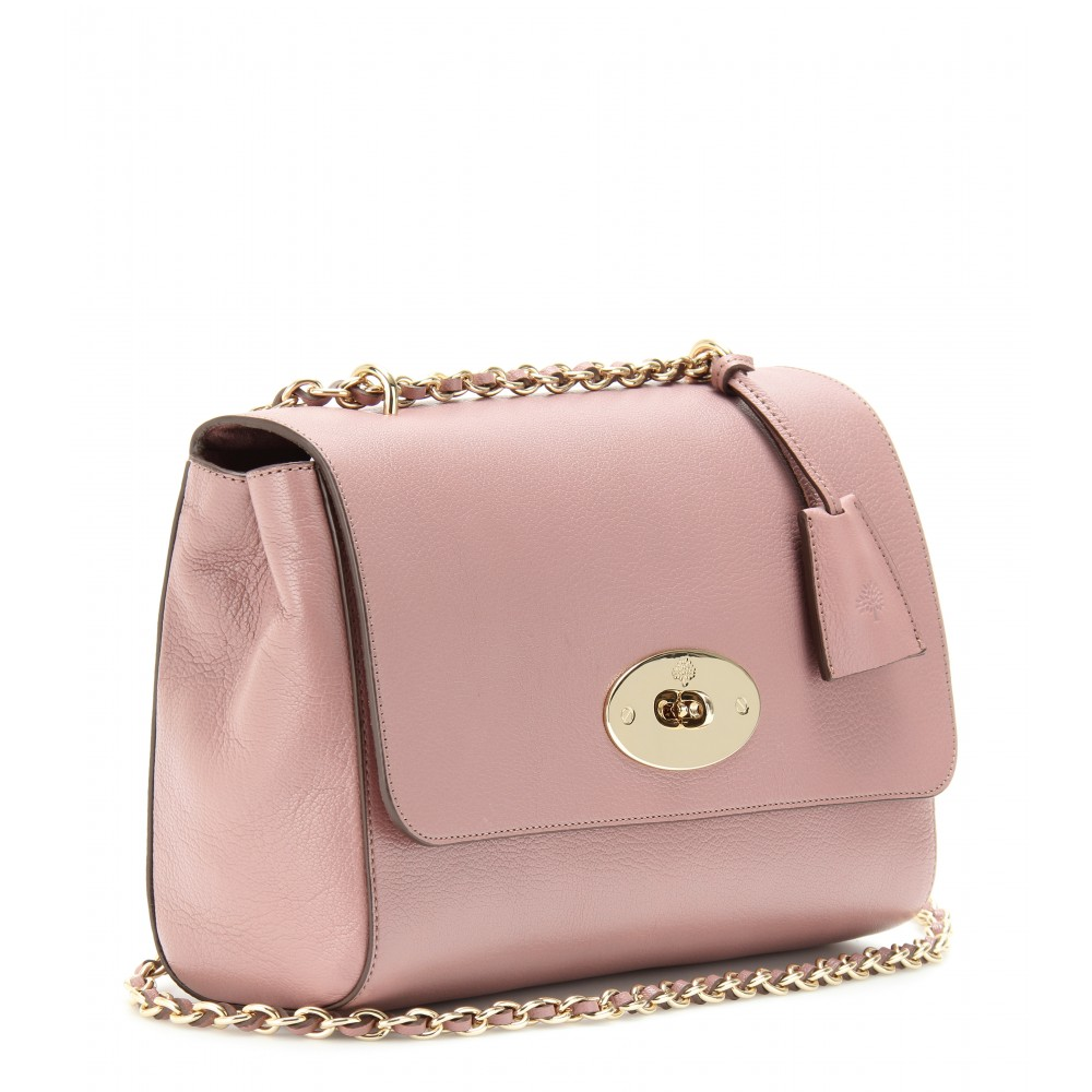 e2ebd9694a ... shopping lyst mulberry medium lily glossy leather shoulder bag in pink  79164 a0c4f