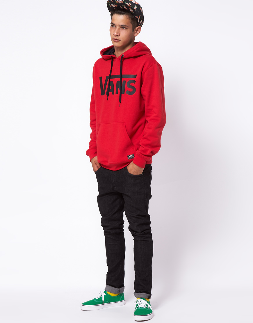 f026d2eb1d Lyst - Vans Hoodie Classic Logo in Red for Men