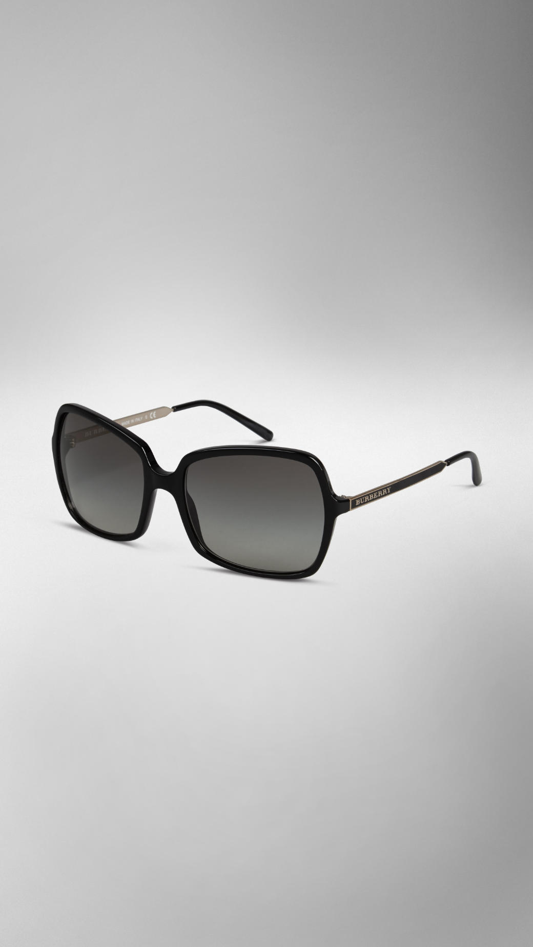 f86a0bab131c Lyst - Burberry Square Frame Acetate Sunglasses in Black