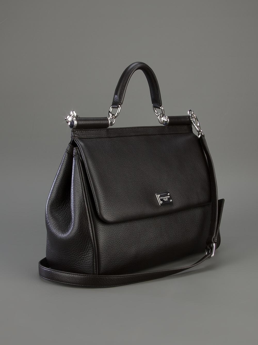 2c93dc94b2 Dolce   Gabbana Classic Leather Tote in Black - Lyst