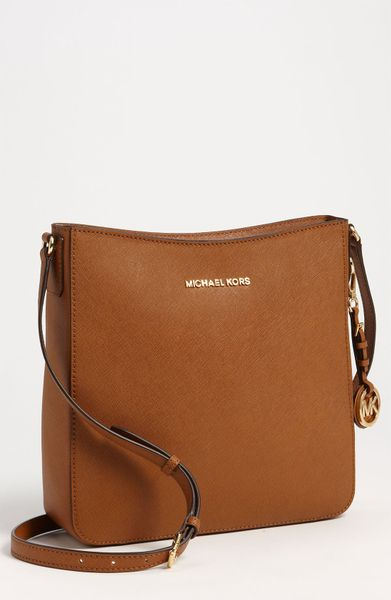 By Michael Kors Jet Set Large Crossbody Bag in Brown (luggage) - Lyst