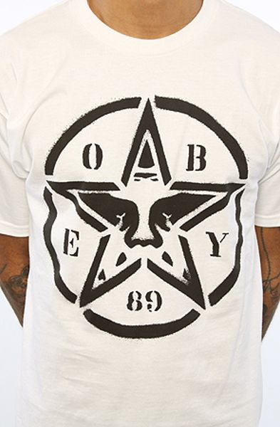 Obey The Star Stencil Basic Tee in White for Men | Lyst