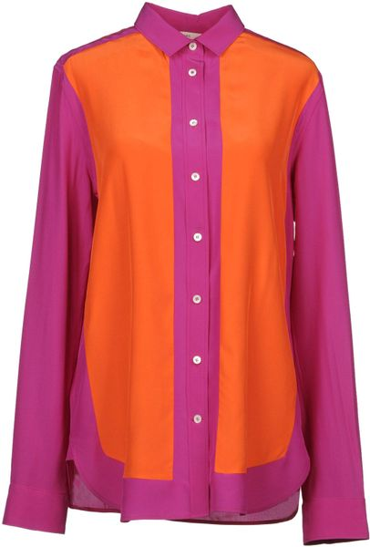 Celine Long Sleeve Shirts in Orange
