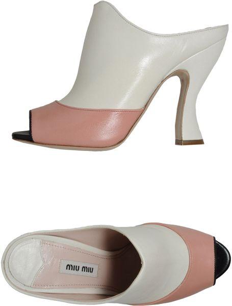 Miu Miu High-heeled Sandals in White (ivory)
