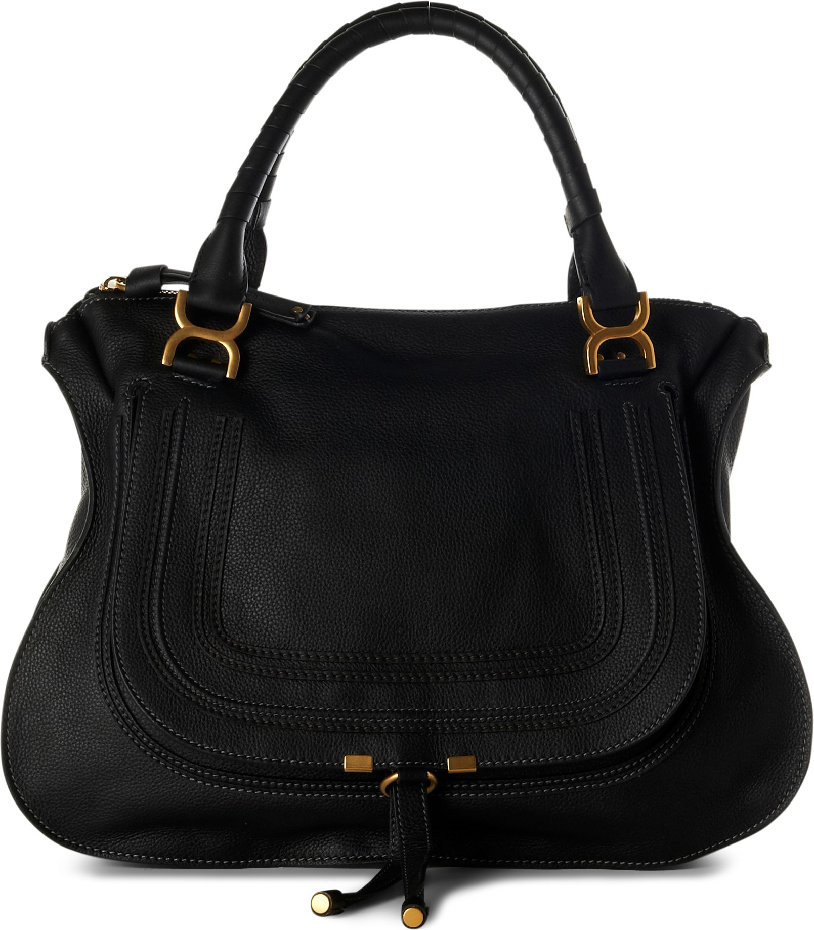 chlo marcie large shoulder bag in black lyst. Black Bedroom Furniture Sets. Home Design Ideas