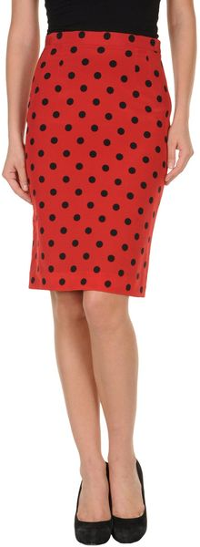 Dolce & Gabbana Knee Length Skirt in Red