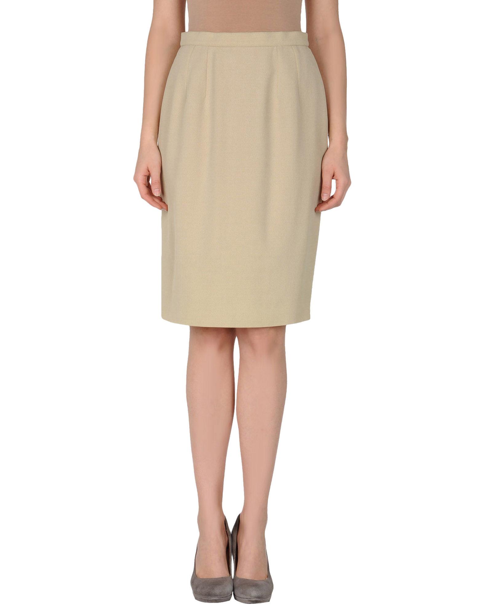 karl lagerfeld knee length skirt in beige save 73 lyst