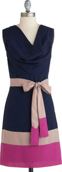 Modcloth Lines Of Poetry Dress in Deep in Blue - Lyst