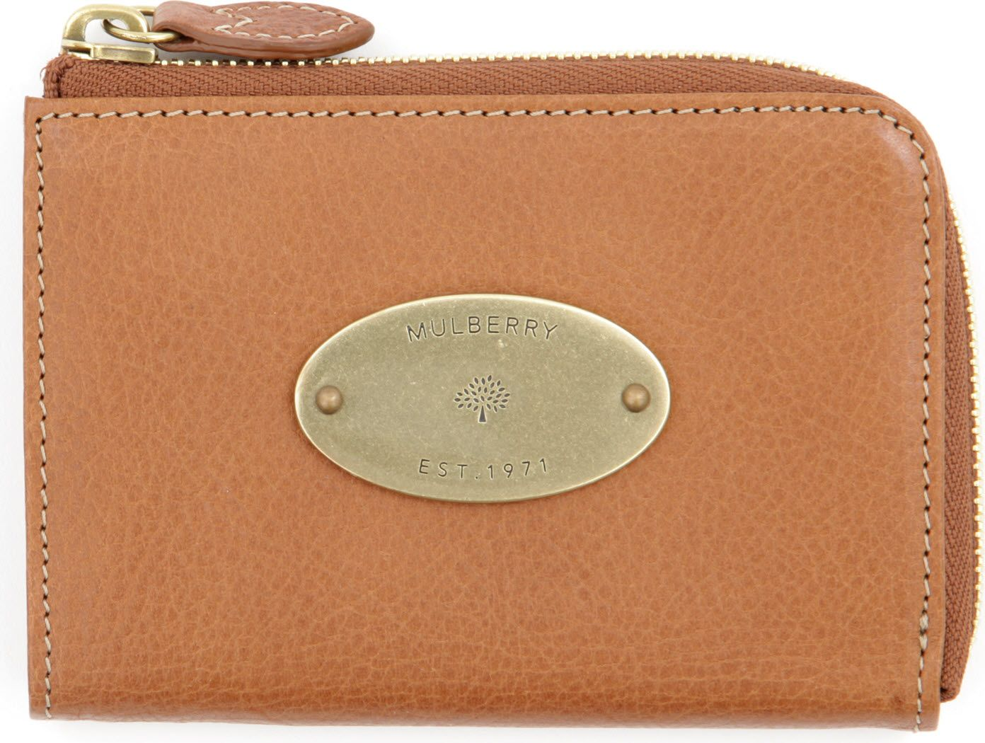 7e8d08a681 Mulberry Slim Vegetable Tanned Leather Coin Purse in Brown - Lyst